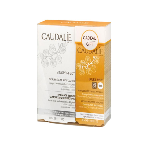 Caudalie Vinoperfect Serum Antimanchas 30ml + Soleil Divin SPF50 40ml