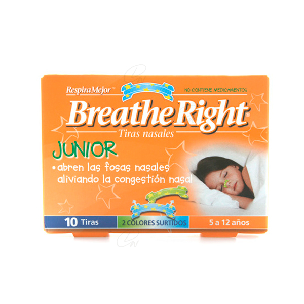 BREATHE RIGHT NIÑOS 10 U