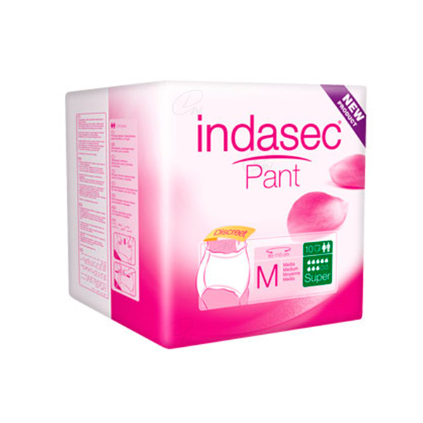 INDASEC PANT SUPER ABSORB DIA T- MEDIA 10 UDS