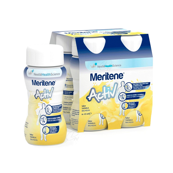 MERITENE ACTIV 125 ML 4 BOTELLAS VAINILLA
