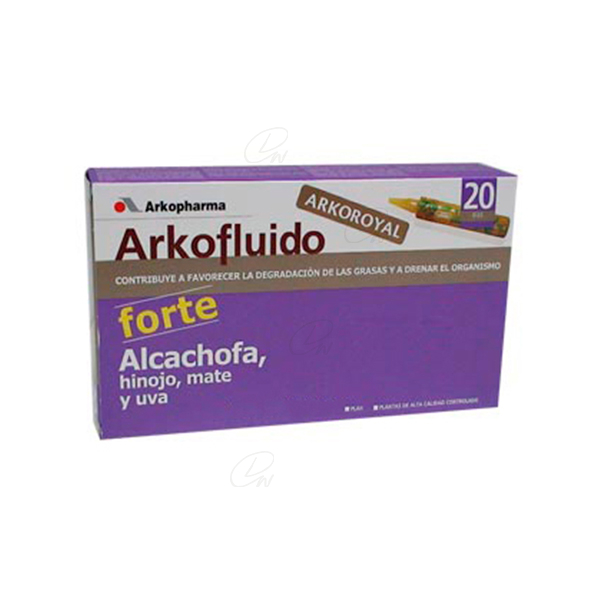 ARKOFLUIDO ALCACHOFA FORTE AMP BEBIBLES 15 ML 20 AMP