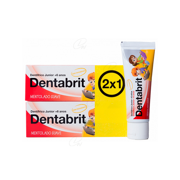 DENTABRIT JUNIOR DE 7 A 12 AÑOS 50 ML 2 U