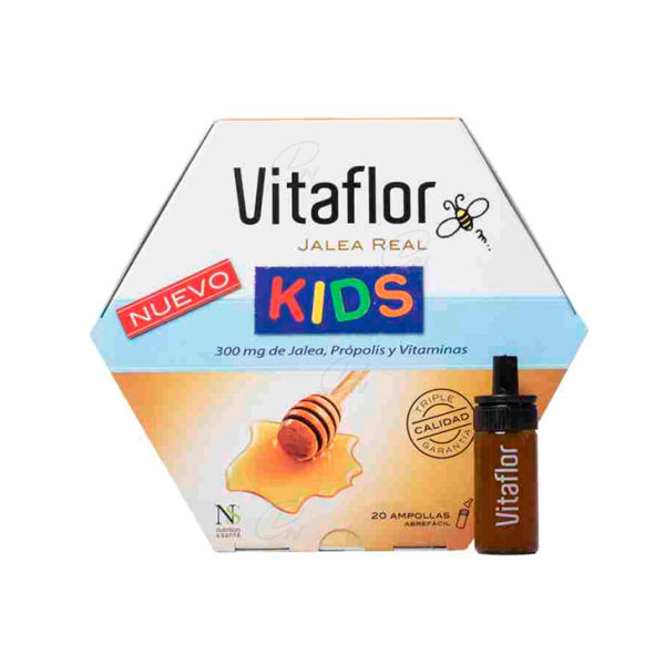 VITAFLOR JALEA REAL KIDS AMPOLLA BEBIBLE 10 ML 20 AMP
