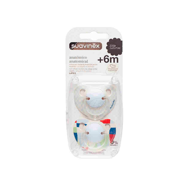 CHUPETE TETINA LATEX 6 M + - PACK 2 U
