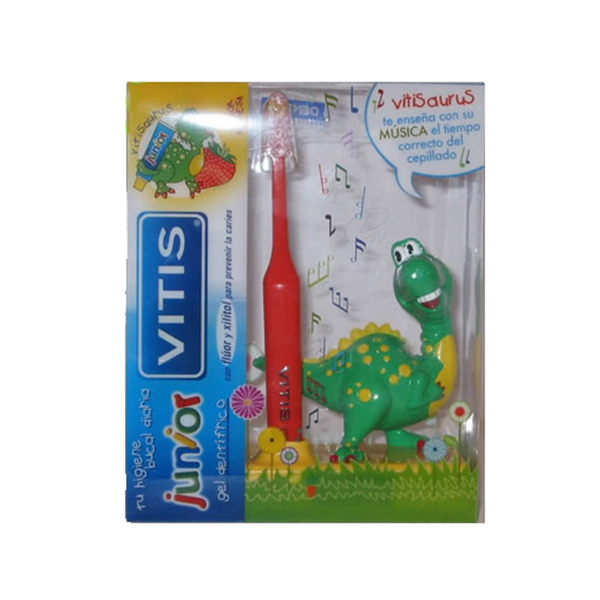 PACK VITIS JUNIOR CEPILLO DENTAL +DENTIFRICO GEL