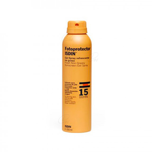 FOTOPROTECTOR ISDIN SPF-15 GEL SPRAY TRANSPARENT 200 ML