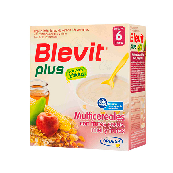 BLEVIT PLUS MIEL FRUTOS SECOS Y FRUTAS  600 G