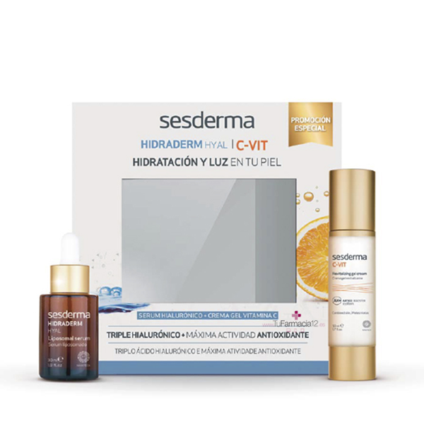 Sesderma Pack Hidraderm Hyal Serum 30 ml + C-Vit Crema Gel 50 ml